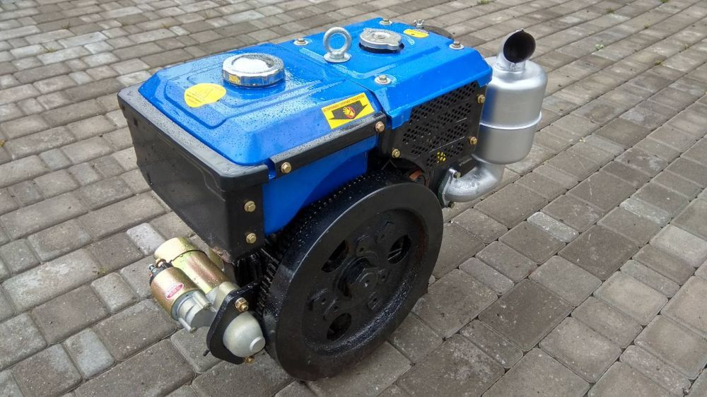 Двигун дизельний DW R195Е 12 к.с. до мототрактору